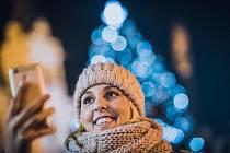 Rozsvícení vánočního stromu na Pernštýnském náměstí v Pardubicích.