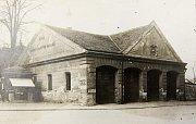 První hasičská zbrojnice v Pardubicích.