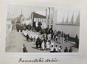Výstava tělesné výchovy a sportu v Pardubicích 12. července 1931. Při té příležitosti se zde konal i Sjezd ČSL hasičstva a samaritstva ČČK.