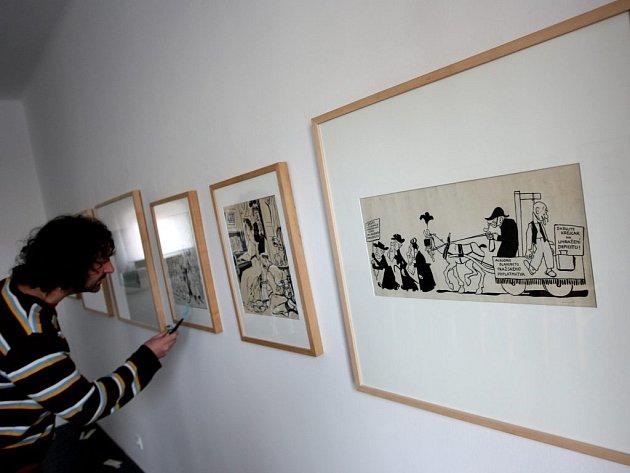 V Domě U Jonáše je výstava děl malíře Josefa Lady
