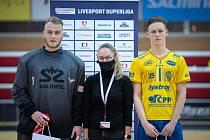 K čemu to je? V utkání proti Ostravě i v Brně byl brankář Martin Haleš (vlevo) vyhlášen nejlepším hráčem pardubického týmu. Toto ocenění by ale určitě vyměnil za nějaký ten získaný bod.