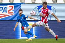 Fotbalová FORTUNA:LIGA: FK Pardubice - FC Slovan Liberec.