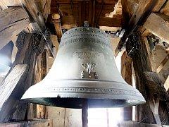 Zvon v kostele Svaté Marie Magdaleny v Lázních Bohdanči