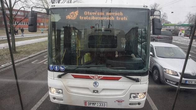 Otevření nových trolejbusových tratí v Pardubicích.