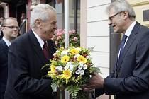 Druhý den prezidentské návštěvy Pardubického kraje. Miloš Zeman navštívil Českou Třebovou.