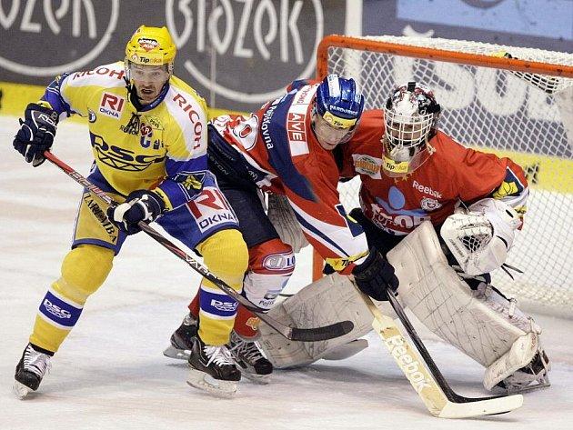 Z hokejového zápasu mezi Pardubicemi a Zlínem