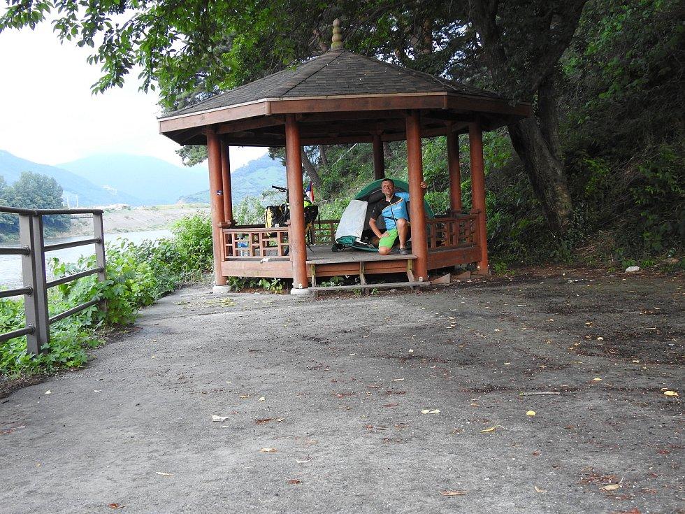 Jan Kovář na kole procestoval Japonsko a Jižní Koreu.
