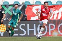 Fotbalové utkání FK Pardubice - MFK Karviná, na snímku Pavel Černý.