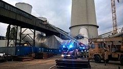 Požár ve Chvaletické elektrárně