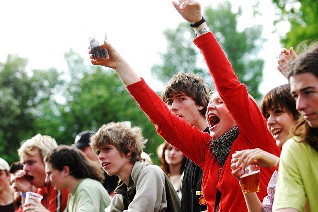 Studentské oslavy v Pardubicích.