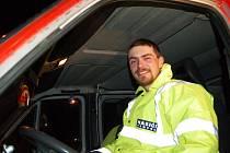 Jan Doucha, vedoucí kynlogické jednotky pardubických dobrovolných hasičů