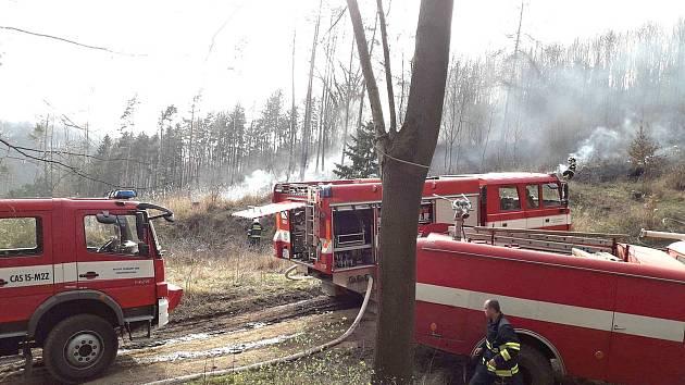 Druhý stupeň požárního poplachu byl ve středu odpoledne vyhlášen u požáru lesa v Městečku Trnávce – Mezihoří.