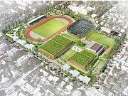 Atletický stadion Rudá hvězda na Dukle má svá nejlepší léta dávno za sebou.
