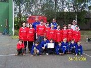 Okresní kolo v požárním sportu Dříteč, družstvo malých hasičů
