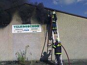 Požár skladu