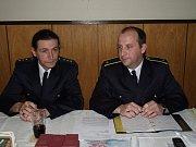 Velitel JSDH Robert Tobiášek, Starosta SDH Martin Pištora