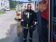 Vyčerpaný hasič