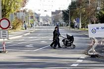 Už v pondělí se otevře další úsek rekonstruované ulice Teplého v Pardubicích.