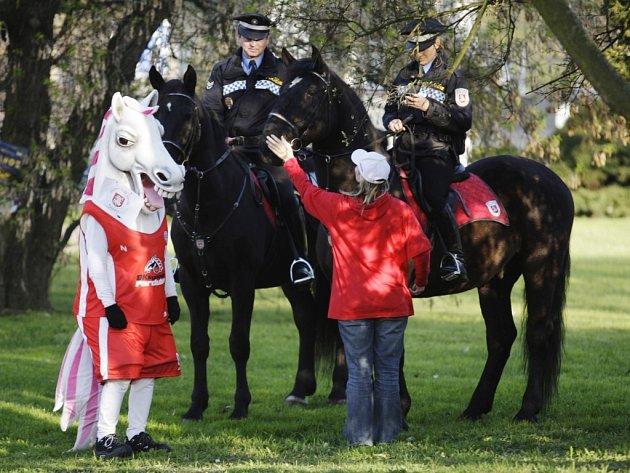 Jízdní oddíl pardubické městské policie bude také součástí Velká rodinná pouť