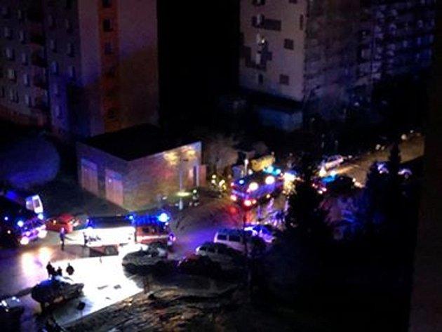 Požár trafostanice na sídlišti Dubina.