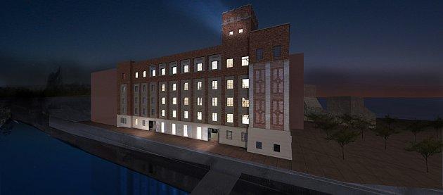 Projekt na budoucí sídlo Východočeské galerie ve Winternitzových mlýnech vPardubicích.
