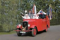 Propagační jízdy veteránské stříkačky z Ostravy do Pardubic