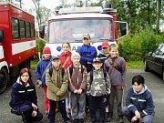 Mladí hasiči na závodech