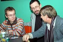 Martin Kotík, Pavel Šimčík a Václav Vydra (zleva)