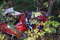 V automobilu u Chvojence zahynul spolujezdec