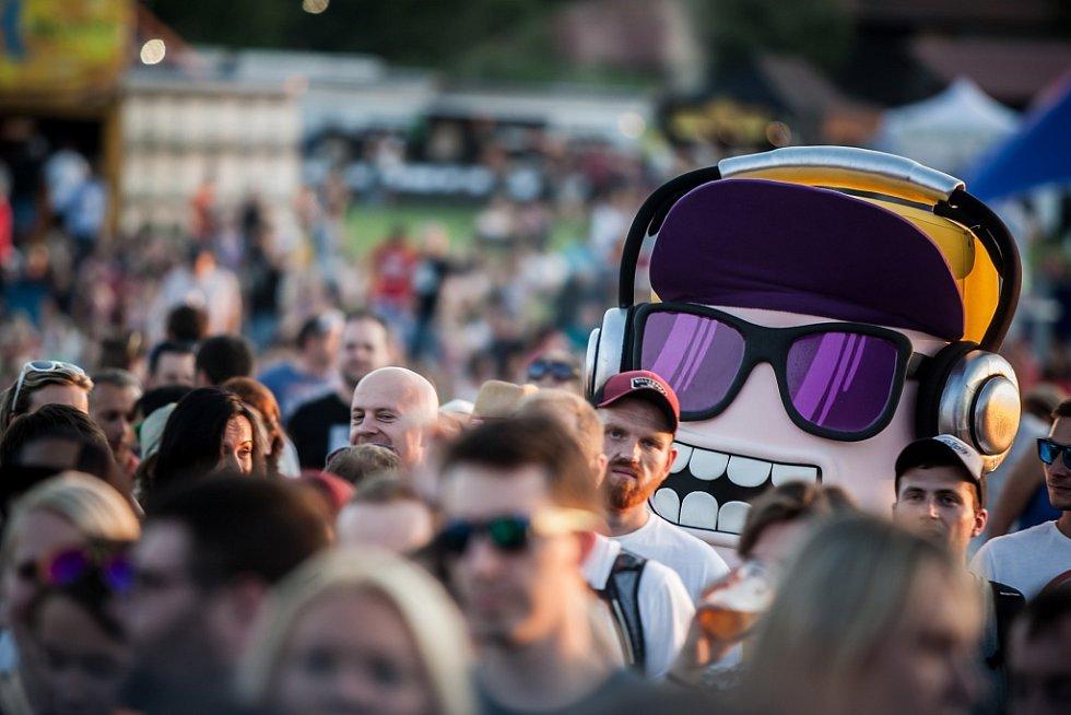 Festival HradyCZ 2017 pod Kunětickou horou.