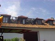 Požár rodinného domu v Poběžovicích