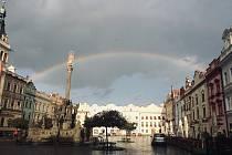 Duha nad Pardubicemi