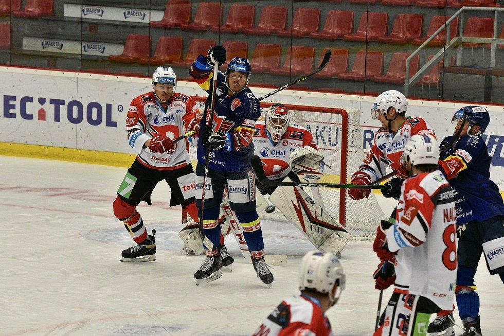 Hokejová extraliga: Madeta Motor České Budějovice - HC Dynamo Pardubice.
