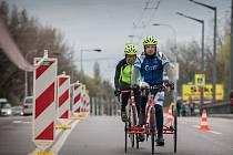 František Vlček na tricyklu