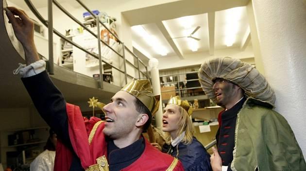Tři králové v Pardubické redakci Deníku