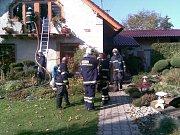 Požár rodinného domu v Horní Rovni