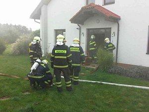 Požár domu v Hoděšovicích