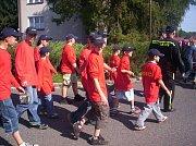 Mladí hasiči při 130 letém výročí založení sboru