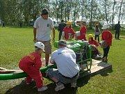 Mladí hasiči na závodech - mladší žáci