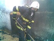 Požár rodinného domu v Dašicích