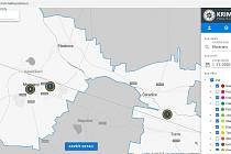 Příklady užití nových map kriminality