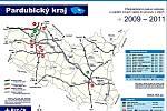 Výstavba dálnic a rychlostních komunikací v Pardubickém kraji