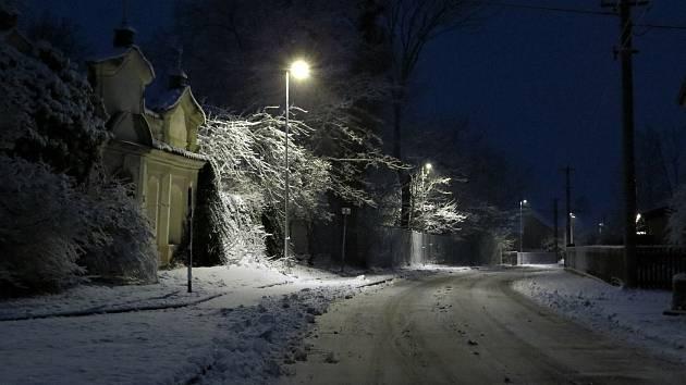 Dolní Roveň v zimě.