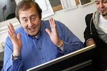 Peter Freestone v pardubické redakci