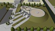 NETRADIČNÍ A MODERNÍ. Muzeum je navrženo jako sestava dvou válcových hmot, která bude skryta za náspy.