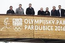 Olympijský park Pardubice představil své logo