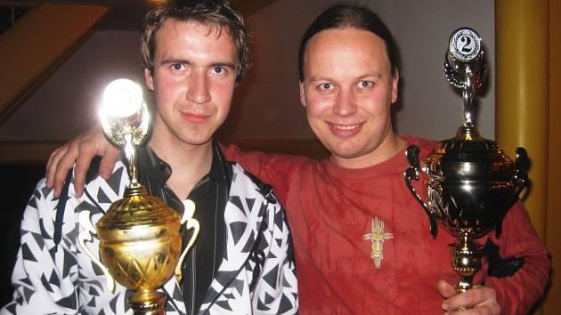 Vlevo Tomáš Jůza (St. Čívice) – třetí v celkovém pořadí Stadion cupu, vpravo Michal Sokol (St. Hradiště) – celkově druhý