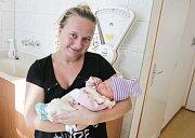 Ema Sloupenská se narodila 29. 10. v 9.58 hodin, vážila 3160 gramů, měřila 48 cm. Rodiče Aneta a David jsou ze Seče.