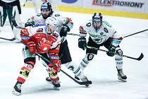 Čtvrtfinále play off hokejové extraligy: HC Dynamo Pardubice - BK Mladá Boleslav.