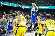 Z basketbalového duelu Česko - Rumunsko na ME basketbalistů 2017.